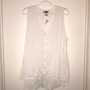 H&M cut sleeve button up shirt